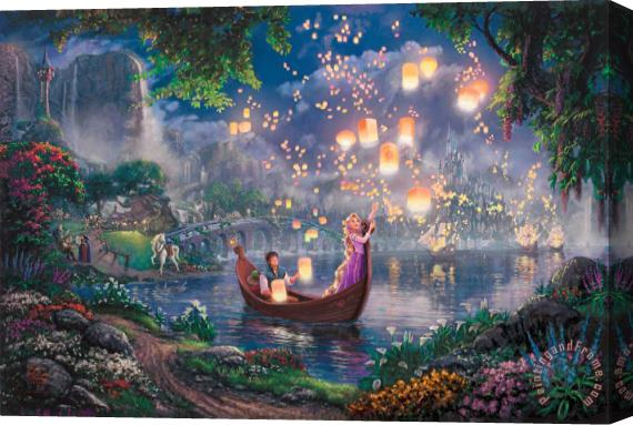Thomas Kinkade Tangled Stretched Canvas Print / Canvas Art