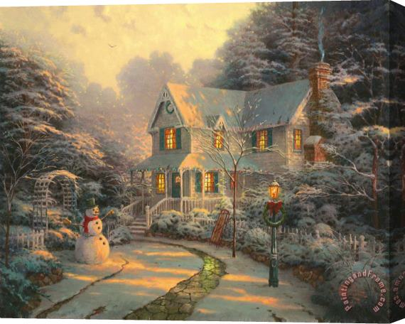 Thomas Kinkade The Night Before Christmas Stretched Canvas Print / Canvas Art
