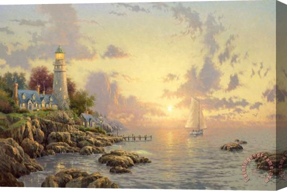 Thomas Kinkade The Sea of Tranquility Stretched Canvas Print / Canvas Art
