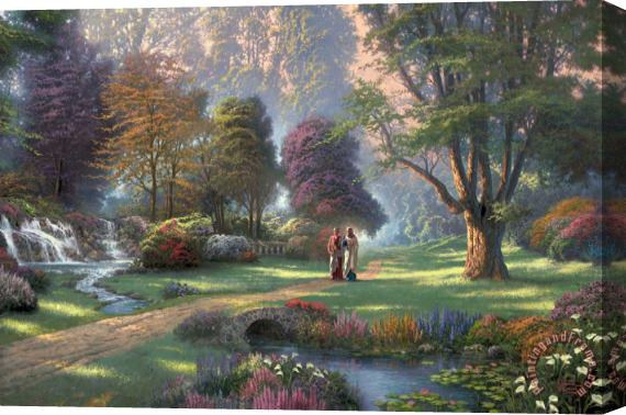 Thomas Kinkade Walk of Faith Stretched Canvas Print / Canvas Art