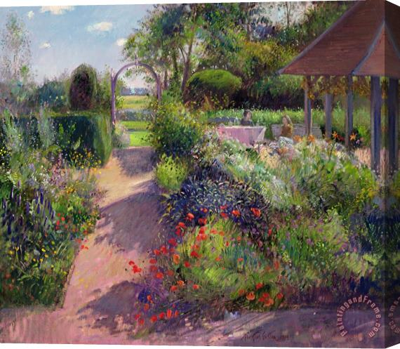 Timothy Easton Morning Break in the Garden Stretched Canvas Print / Canvas Art
