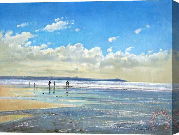 Timothy Easton Paddling At The Edge Stretched Canvas Print / Canvas Art
