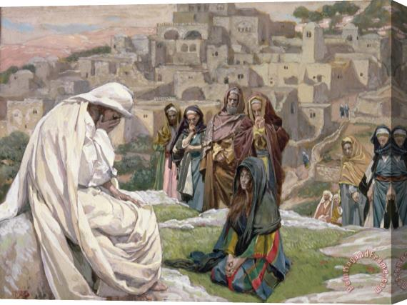 Tissot Jesus Wept Stretched Canvas Painting / Canvas Art