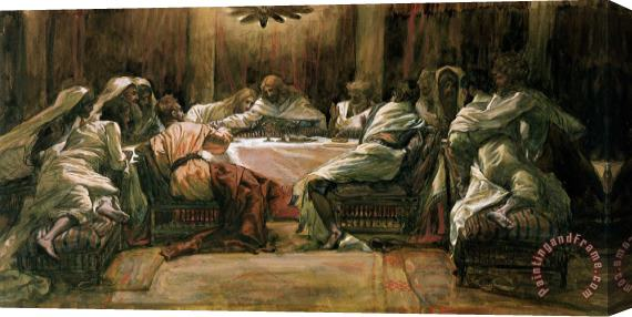 Tissot The Last Supper Stretched Canvas Print Canvas Art