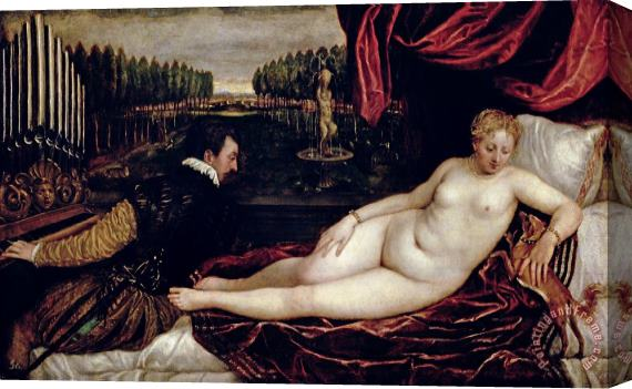 Titian Venus and the Organist Stretched Canvas Print / Canvas Art
