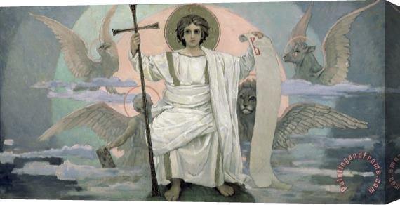 Victor Mikhailovich Vasnetsov The Son Of God The Word Of God Stretched Canvas Print / Canvas Art