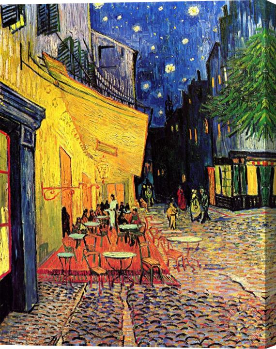 Vincent van Gogh Cafe Terrace Place Du Forum At Night Stretched Canvas Print / Canvas Art