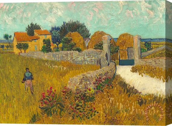 Vincent van Gogh Farmhouse In Provence Stretched Canvas Print / Canvas Art