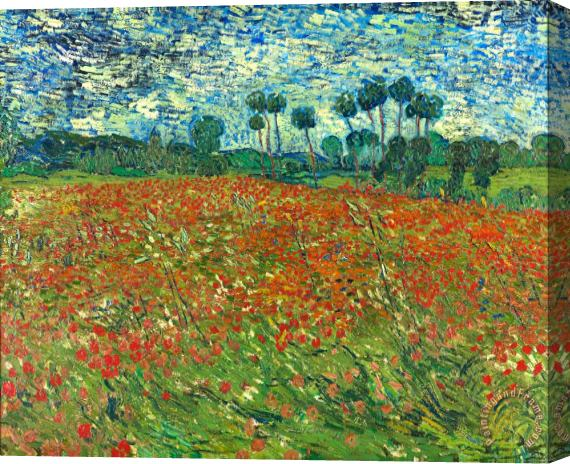 Vincent van Gogh Poppy Field Stretched Canvas Painting / Canvas Art