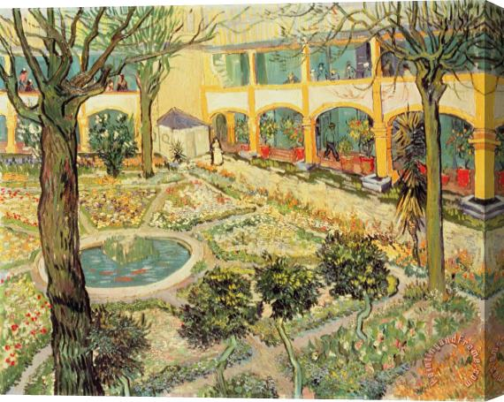 Vincent Van Gogh The Asylum Garden At Arles Art Print For Sale    Paintingandframe.com