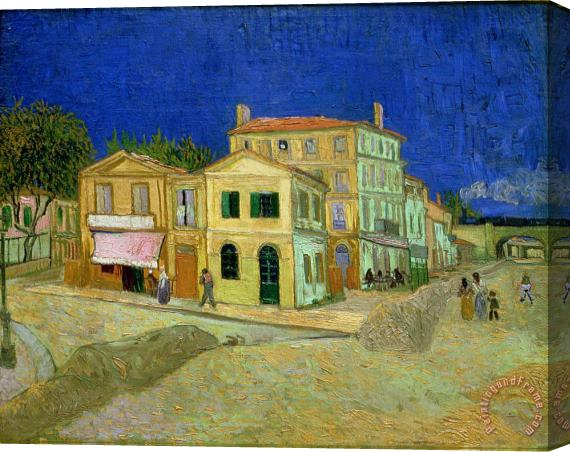 Vincent van Gogh The Yellow House Stretched Canvas Print / Canvas Art