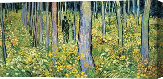 Vincent van Gogh Undergrowth with Two Figures Stretched Canvas Print / Canvas Art