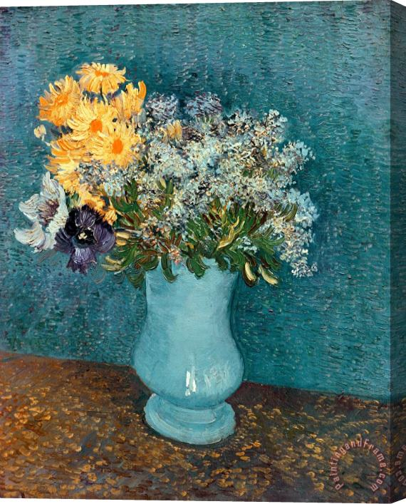 Vincent van Gogh Vase of Flowers Stretched Canvas Print / Canvas Art
