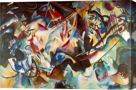 Wassily Kandinsky Composition Vi 1913 Stretched Canvas Print / Canvas Art