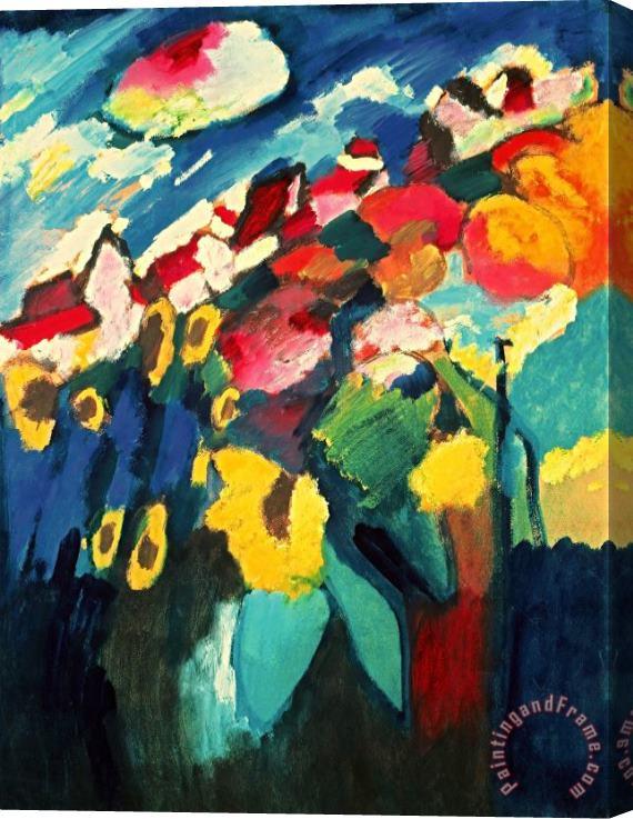 Wassily Kandinsky Murnau Garden II 1910 Stretched Canvas ...