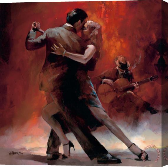 willem haenraets Tango Argentino Ii Stretched Canvas Print / Canvas Art