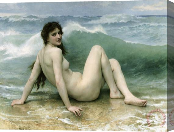 William Adolphe Bouguereau La Vague Stretched Canvas Print / Canvas Art