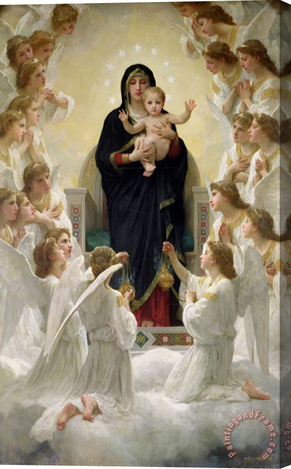William Adolphe Bouguereau The Virgin with Angels Stretched Canvas Print / Canvas Art