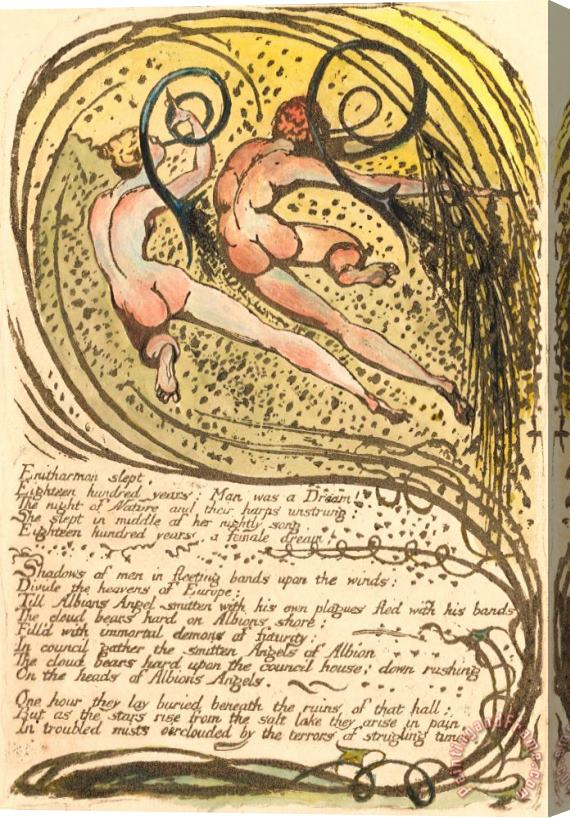 William Blake Europe. a Prophecy, Plate 10,