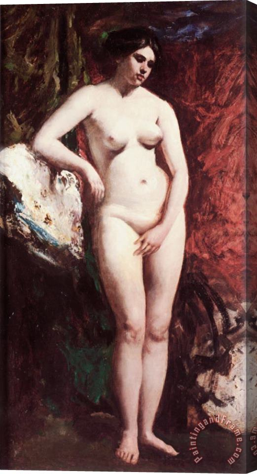William Etty Standing Nude Stretched Canvas Print / Canvas Art