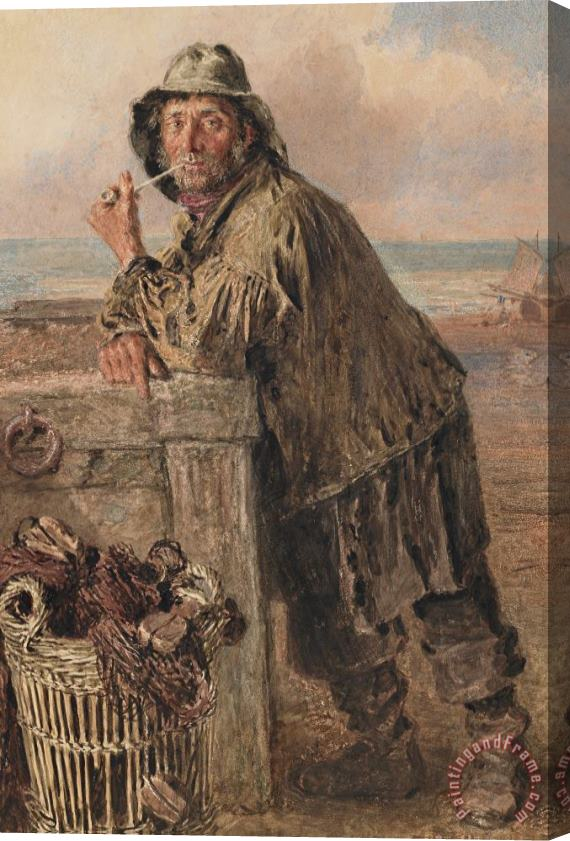 William Henry Hunt A Hastings Fisherman Stretched Canvas Print / Canvas Art