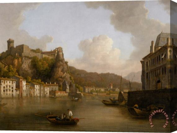 William Marlow View of The Chateau De Pierre Encise on The Rhone Lyon Stretched Canvas Print / Canvas Art