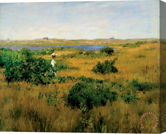 William Merritt Chase Summer at Shinnecock Hills Stretched Canvas Print / Canvas Art