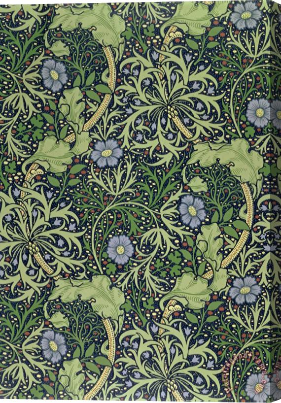 William Morris Seaweed Wallpaper Design Stretched Canvas Print / Canvas Art