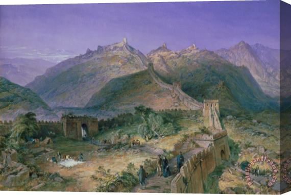 William Simpson The Great Wall of China Stretched Canvas Print / Canvas Art
