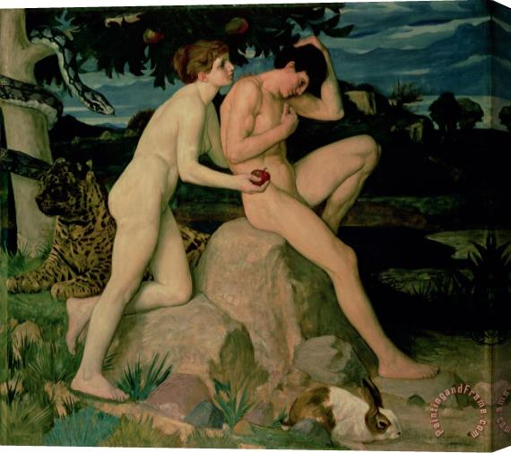 William Strang Adam and Eve Stretched Canvas Print / Canvas Art