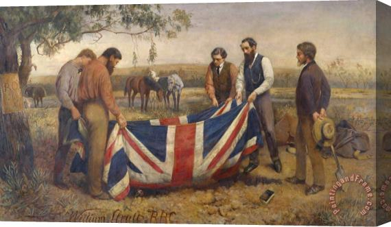William Strutt The Burial of Burke Stretched Canvas Print / Canvas Art