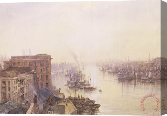 William Wyld The Pool from the Adelaide Hotel London Bridge Stretched Canvas Print / Canvas Art
