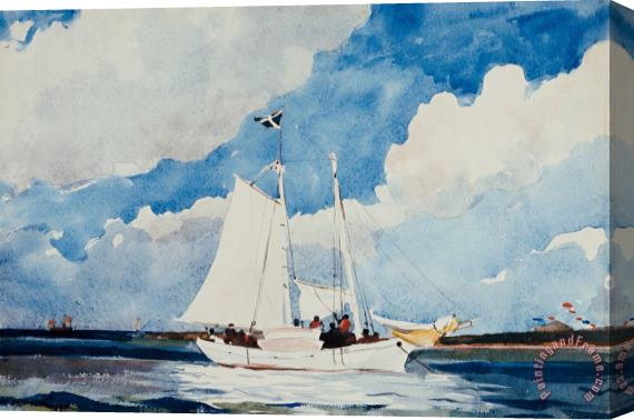 Winslow Homer Fishing Schooner in Nassau Stretched Canvas Print / Canvas Art