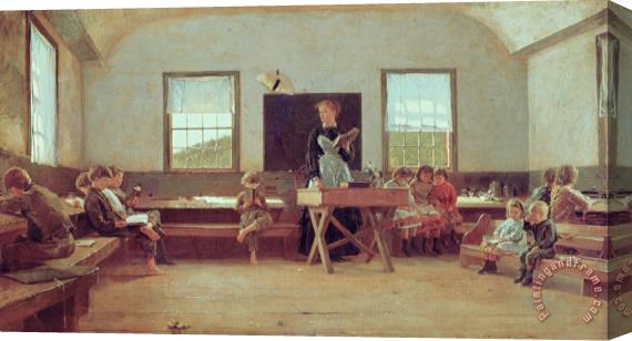 Winslow Homer The Country School Stretched Canvas Print / Canvas Art