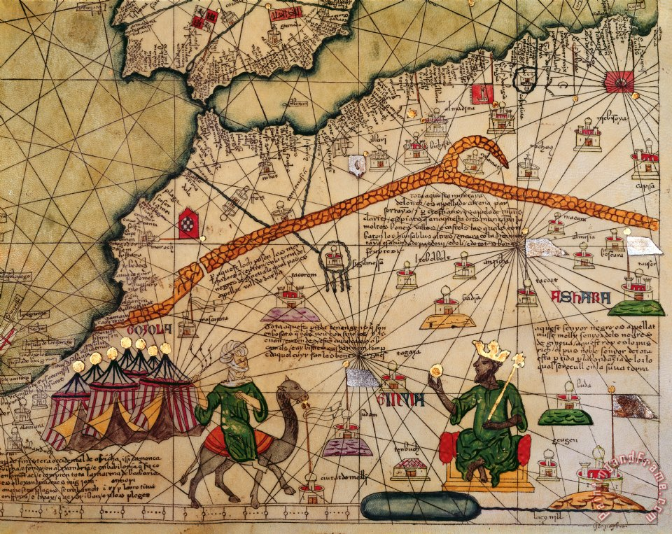 abraham cresques catalan map of europe and north africa charles v of