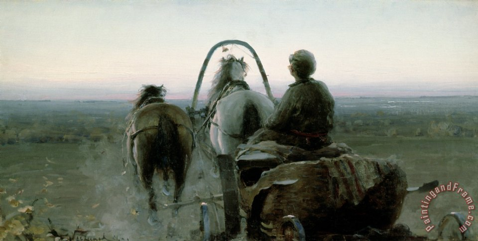 The Return Journey painting - Abram Efimovich Arkhipov The Return Journey Art Print