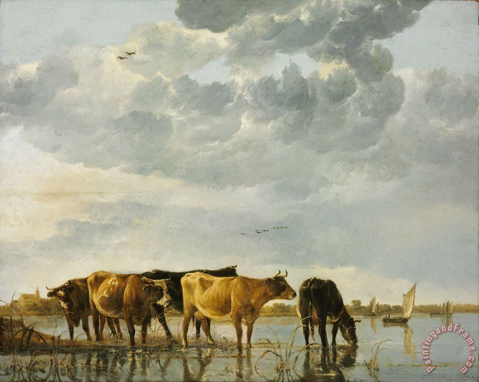 Cows in a River painting - Aelbert Cuyp Cows in a River Art Print