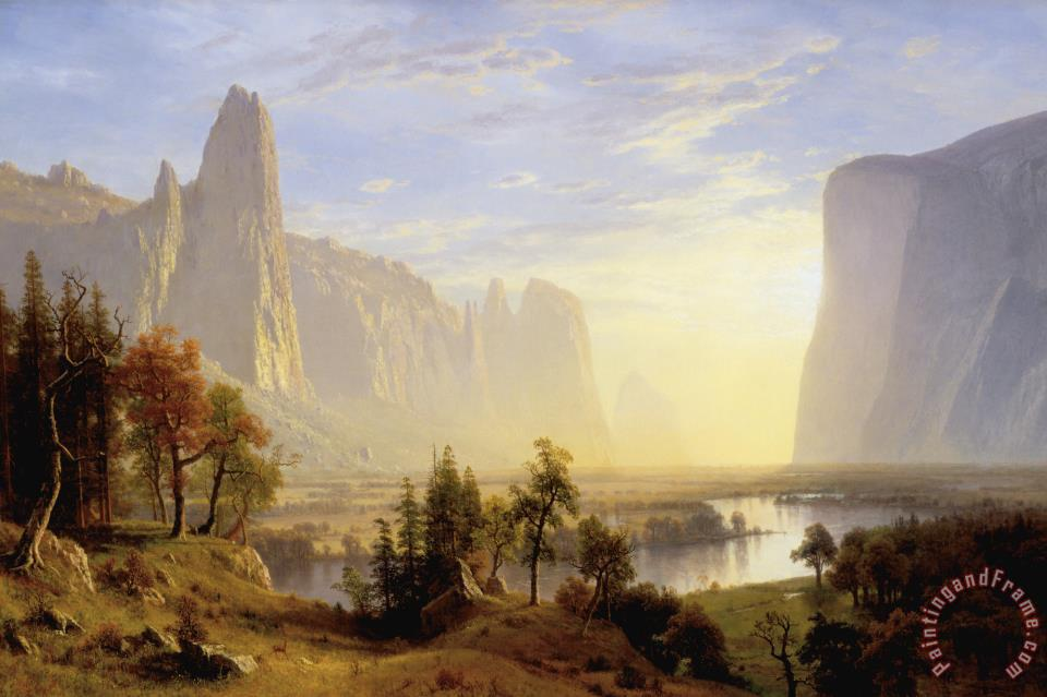 Albert Bierstadt Yosemite Valley Art Painting