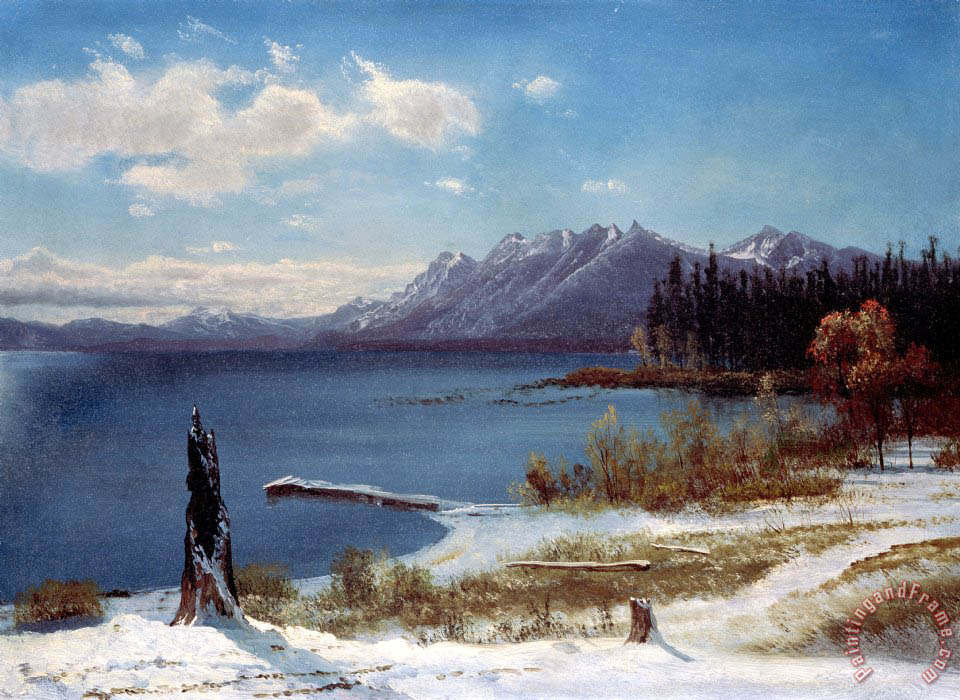 Albert Bierstadt Lake Tahoe Art Print