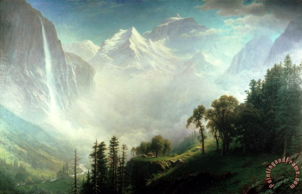 Majesty of the Mountains painting - Albert Bierstadt Majesty of the Mountains Art Print