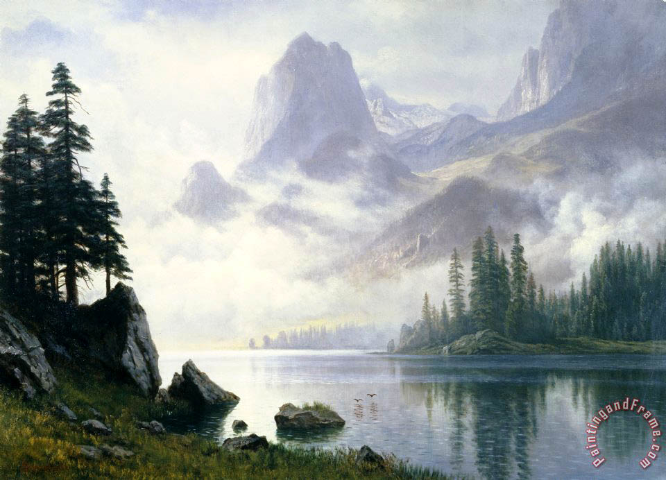 Albert Bierstadt Mountain out of the Mist Art Print