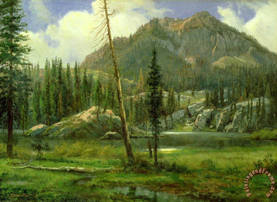 Sierra Nevada Mountains painting - Albert Bierstadt Sierra Nevada Mountains Art Print