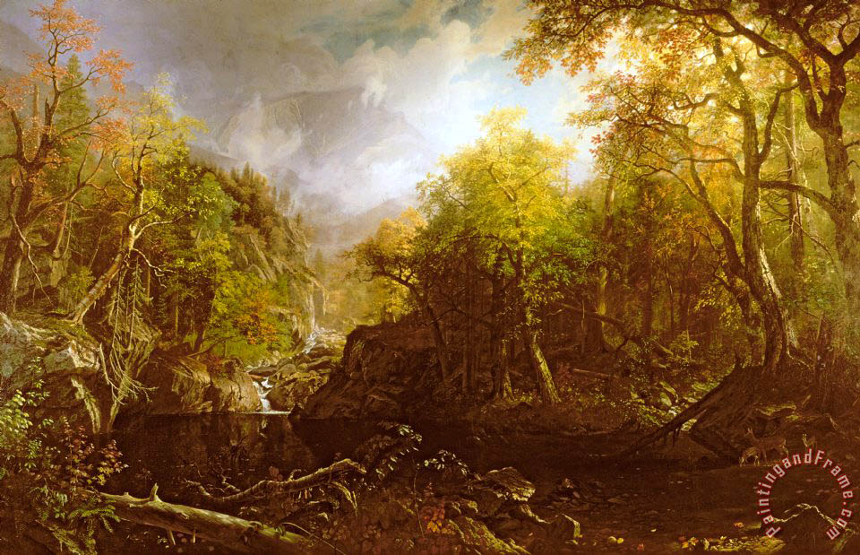 The Emerald Pool painting - Albert Bierstadt The Emerald Pool Art Print