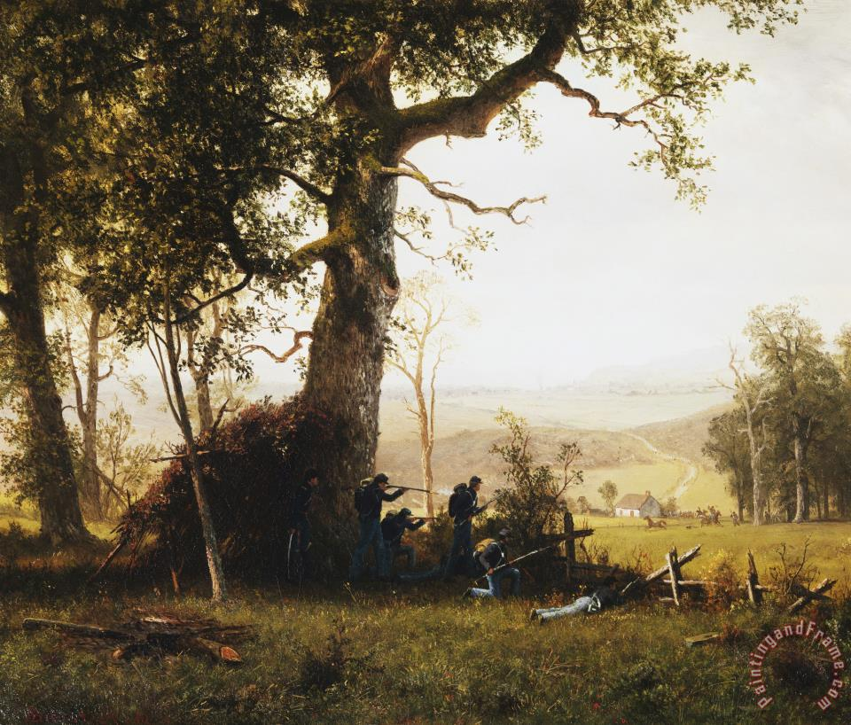 Albert Bierstadt Union Soldiers Fighting in The Field painting - Union  Soldiers Fighting in The Field print for sale