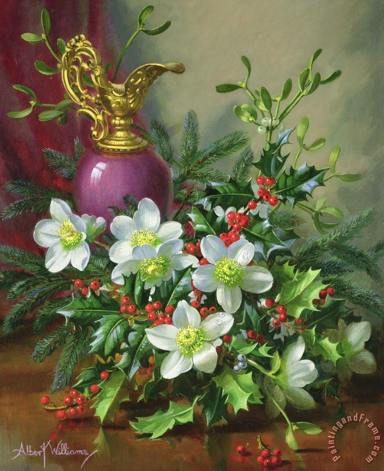 Albert Williams Christmas Roses Painting Christmas Roses