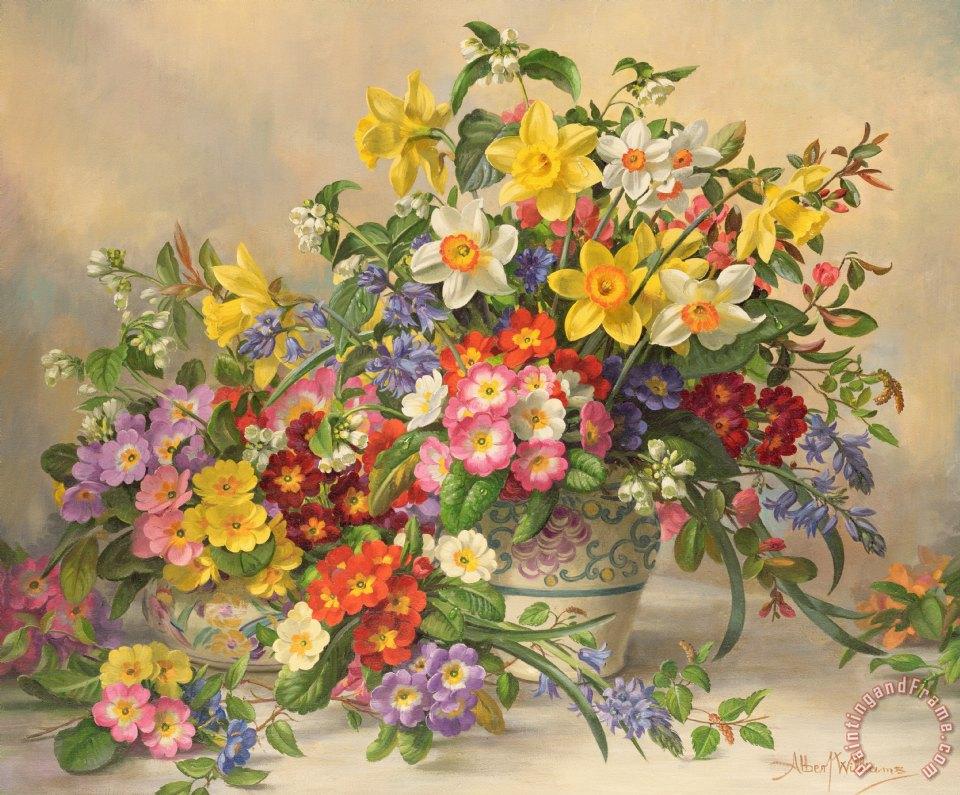 Albert williams spring flowers and poole pottery painting spring spring flowers and poole pottery painting albert williams spring flowers and poole pottery art print mightylinksfo