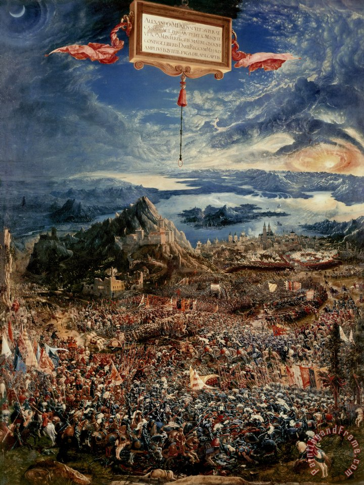 Albrecht Altdorfer The Battle of Issus Art Print