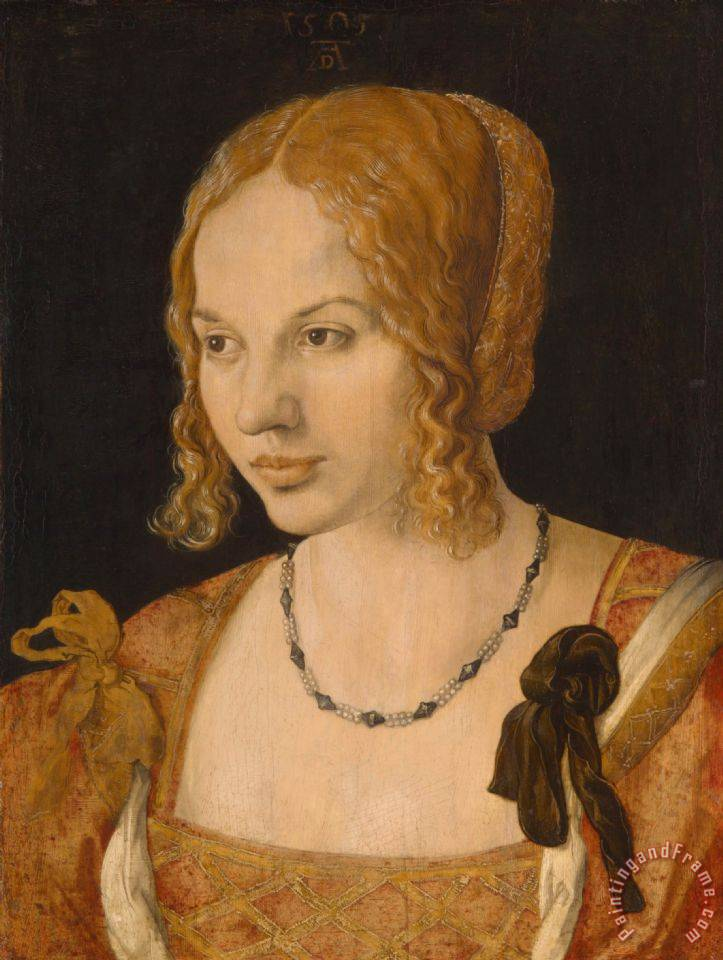 Portrait of a Young Venetian Woman painting - Albrecht Durer Portrait of a Young Venetian Woman Art Print