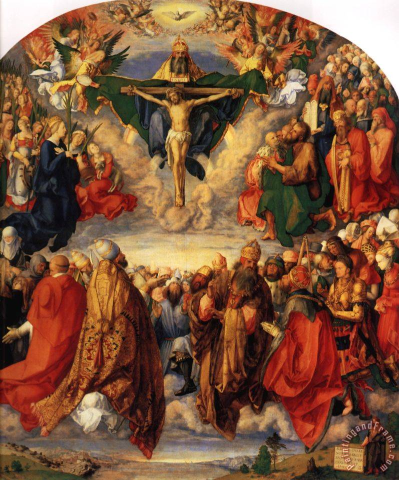 Adoration of The Trinity painting - Albrecht Durer Adoration of The Trinity Art Print