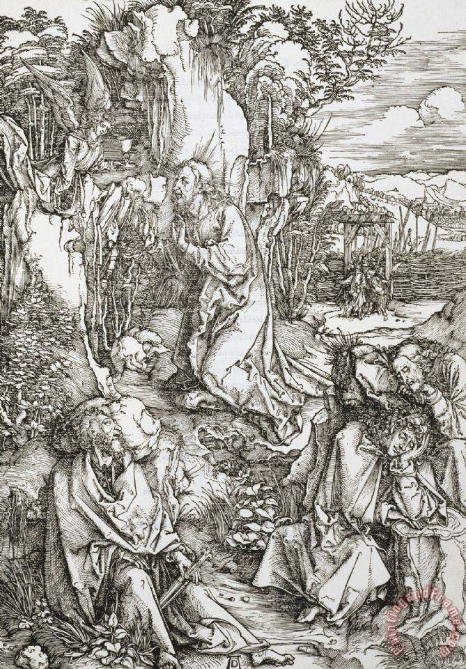 Agony in The Garden painting - Albrecht Durer Agony in The Garden Art Print
